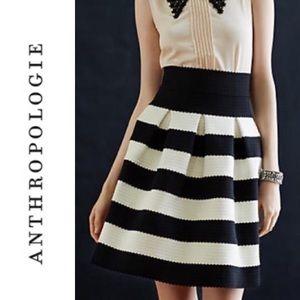 Anthropologie Girls From Savoy Stripe Skirt